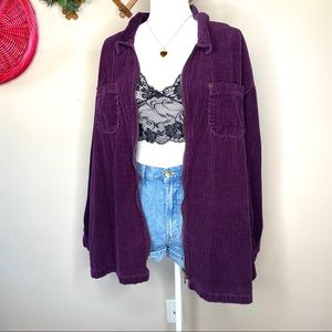 Vintage zip up purple corduroy jacket 3x